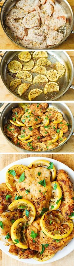 Quick Dinner Ideas - This lemon chicken skillet is a super quick and easy…: