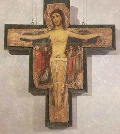 Croce dipinta. Scuola di Alberto  Sotio. Fine 1100. Palazzo Barberini.