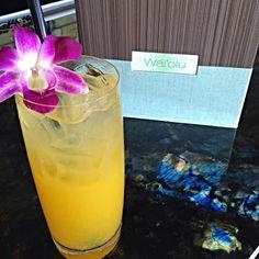 Featured on our Sunset Menu – the 'Lanikai Shore' is crafted with Japanese Shochu, Fresh Sweet and Sour, Mango Puree, and Soda.  #TrumpWaikiki #Waiolu #Waikiki #Hawaii #Bar #Cocktail #Shochu #Drink #Cheers #Travel  Trump International Hotel Waikiki Beach Walk - Google+