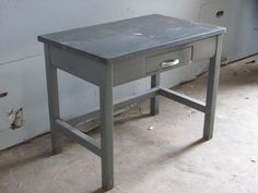 Desk, Metal, Slate Top