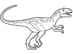 Prehistoric allosaurus coloring page. Hellokids fantastic collection of DINOSAUR coloring pages has lots of coloring pages to print out or color online . Dinosaur Coloring Pages, Cute Coloring Pages, Animal Coloring Pages, Free Printable Coloring Pages, Adult Coloring, Coloring Sheets, Jurassic Park Raptor, Jurassic World Raptors, Raptor Dinosaur