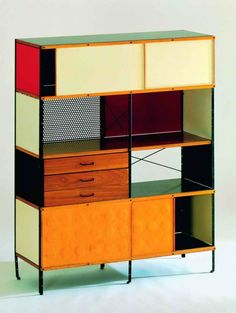 storage unit by charles  ray eames (midcentury furniture, home, decor, design, interior)