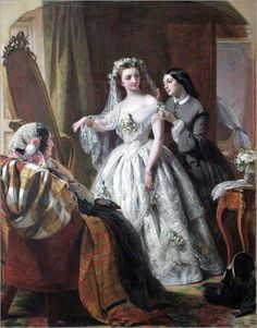 1856 Abraham Solomon (British artist, 1824–1862) The Bride