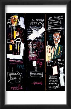 Horn Players, 1983 Posters por Jean-Michel Basquiat na AllPosters.com.br