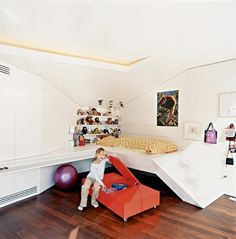 Simple but great play space in an attic corner