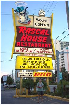 One of the best gems in Florida dining history - Wolfie's Rascal House in MIMO (Miami Modern) ~ rip to one freakin' outstanding piece of Miami Beach history