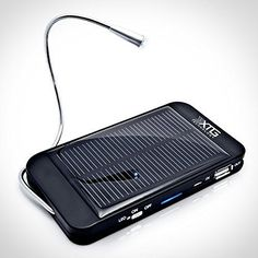 XTG Solar Charger, Compact Solar Powered Back Up Battery (1500mAh, 1A USB Port) for iPhone, Samsung Galaxy & USB Devices. Great for Hiking & Adventure. Includes LED Reading Light and Window/Windshield Suction Cups, http://www.amazon.com/dp/B00449U3K0/ref=cm_sw_r_pi_awdm_x_3fs6xb5Y640JF
