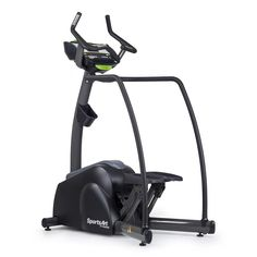 """SportsArt Fitness S715 Status Series Club Stepper - Commercial Stairclimber - Self Powered Step Machine - Independent Step Trainer. Self-Powered. Electromagnetic resistance: 40 levels. Step height: 14"""". Speed: 25-160 steps per min. Programs: Manual, Random, Interval (3), Vari-Stride (3), Plateau, Fat Burn, YMCA Test, HRC (3). Independent step action. Self leveling non-skid foot plates. Pedal size 15"""" x 6.75"""". Side hand rails. Silent and smooth poly-v belt drive system. Race inspired..."""