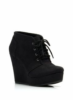 Faux Suede Platform Wedge Booties www.louboutinboots.at.nr Fashion high heels, fashion girls shoes and men shoes ,just here with $129 best price