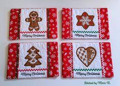 Christmas Cookies Mug Rug Set - Oma's Place