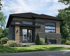 Cette Grandiose Maison De Plain Pied De Style Urbain Est Idéale Pour Un  Terrain étroit