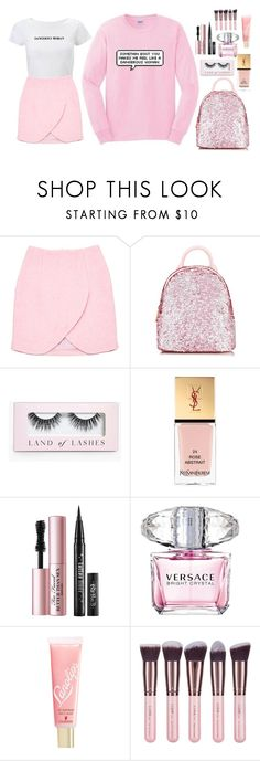 """Something About You Makes Me Feel Like A Dangerous Woman 💕"" by xx-isabella-xx ❤ liked on Polyvore featuring Carven, Skinnydip, Boohoo, Yves Saint Laurent, Too Faced Cosmetics, Versace, Lano and Luxie"
