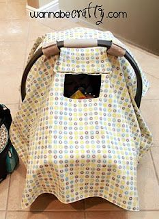 Sew Dang Cute Crafts: Guest Blogger: Peek-a-Boo Car Seat Canopy by Wannabe Crafty