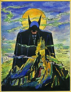 Detective Comics cover by Bob Kane (Sept. Batman cover by Neal Adams (Dec. and an original re-creation by Bob Kane Bob Kane, Bristol Board, Batman Universe, Detective Comics, Marvel Dc, Comic Art, Superhero, Cover, Fictional Characters