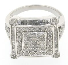 Sterling Silver 1.00cttw Princess Ring, Size: 7