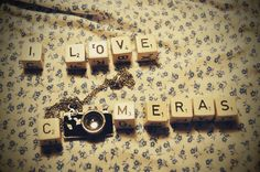 I Love Cameras - Photography by Holunder on deviantART. #Photographs #Pictures #Scrabble #Necklace #Jewelry