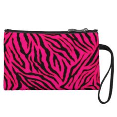 Women's Neon Purple Tiger Stripes Wristlet