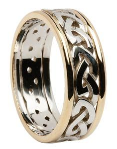 Two Tone Celtic Knot Wedding Band An Rings