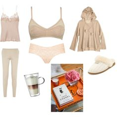 Feeling comfortable at home by coci on Polyvore featuring Calypso St. Barth, Carine Gilson, Totême, Sloggi, UGG Australia and Bodum