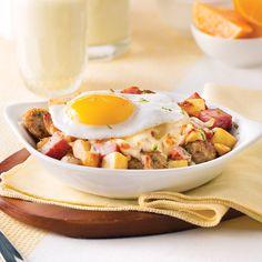 Cassolettes d'œuf, patate douce et pancetta - 5 ingredients 15 minutes Brunch Recipes, Gourmet Recipes, Breakfast Recipes, Healthy Recipes, Brunch Decor, Brunch Buffet, Brunch Casserole, Casserole Recipes, Brunch Salad