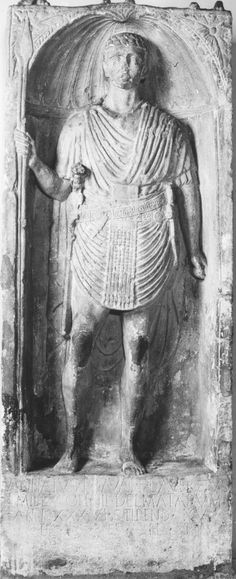 Tombstone of Annaius, Soldier of the Cohors IIII Dalmatarum from Dalmatien (found in Bingerbrück, Museum Bad Kreuznach)