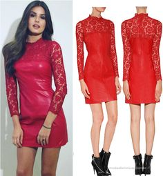 """Vestido vermelho da Camila Queiroz no """"Domingão do Faustão"""" 04 dez   Red Dress Valentino http://modaefeminices.com.br/2016/12/05/vestido-vermelho-da-camila-queiroz-no-domingao-do-faustao-04-dez/"""