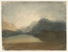 Joseph Mallord William Turner (1775‑1851) Title View across Lake Llanberis towards Snowdon Date 1799-1800 Medium Watercolour on paper