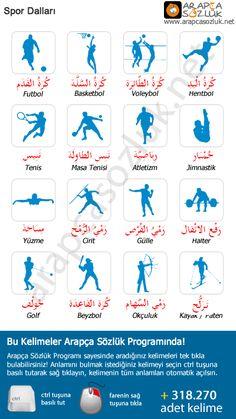 Arapcasozluk.net | Arapça Resimli Terimler | Spor Dalları - Spor Terimleri