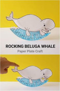Rocking Beluga Whale Paper Plate Craft for Kids – Baak Turn Animals