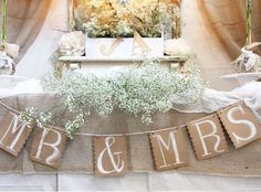 DIY Wedding Table Decoration Ideas - Rustic Head Table - Click Pic for 46 Easy DIY Wedding Decorations