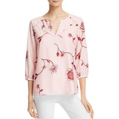 Cooper & Ella Antonella Floral Print Blouse (1 130 SEK) ❤ liked on Polyvore featuring tops, blouses, fresh floral, flower print top, floral print tops, floral print blouse, floral tops and pink blouse