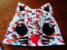 Salla sews: Ompeluohje: Aplikoitu kissa-pipo - Tutorial: Hat with cat applique
