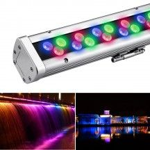 96W Dimmable LED Wall Washer, Super Bright Outdoor Lighting, RGB, DMX512 Customizable, Colour-changing, Waterproof, Wall Wash Lighting, LED Light Bar