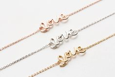 Love Lettering Necklace-From lettering necklaces to initial rings, style that's all yours and no one else's. Make your unique style and be more confident woman!