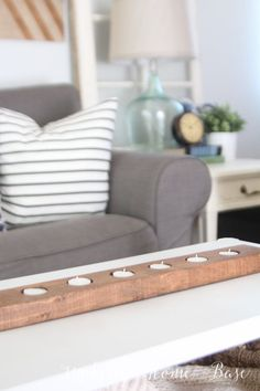 Living Room Updates - This candle holder would be so easy to make!