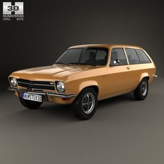 Opel Ascona A Voyage 1970 3d model from Humster3D.com.