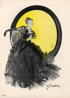Gaston | Lucile Manguin 1945 René Gruau, Fashion Illustration, Evening Gown