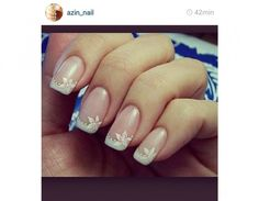 French manicure floreale