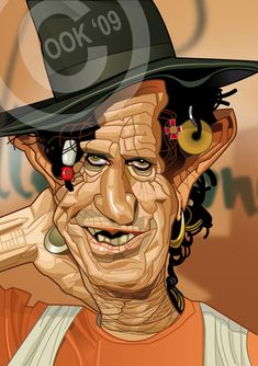 Keith Richards by RussCook on DeviantArt