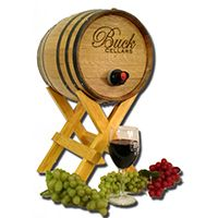 Wedding Wine Barrel Card Keepsake Box - Personalized