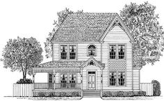 Victorian House Plan with 1958 Square Feet and 4 Bedrooms from Dream Home Source | House Plan Code DHSW64572