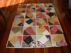 Stack and slash quilt as you go. This is the quilt I was making when my dad was in palliative care battling pancreatic cancer. After dad passed away it took me 5 years to complete. I have it with me in the caravan because Dad loved holidaying in the caravan.
