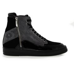 fb3826ef1a703a Cesare Paciotti 4us Sneakers ($175) ❤ liked on Polyvore featuring shoes,  sneakers, wedge heel shoes, paciotti 4us, black wedge shoes, wedge trainers  and ...
