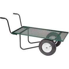 Move heavy, dry loads with the ease of a wheelbarrow.Flat deck makes it easy to load and unload bags of fertilizer, topsoil, mulch, etc.Wheelbarrow style makes transporting up to 700 lbs. Hydroponic Supplies, Greenhouse Supplies, Backyard Chicken Coops, Chickens Backyard, Garden Tool Storage, Garden Tools, Wheelbarrow Decor, Georgian Architecture, Expanded Metal