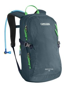 CamelBak Women's 2016 Day Star 18 Hydration Pack, Reflecting Pond/Andean Toucan. Women's-Specific pack designed to carry hydration and essentials for day hikes. Antidote reservoir features: easy open/close cap, lightweight fill port, Dryer arms, center baffling and low-profile design. Key pack features: air Channel back panel, women's-specific s-curved harness, hike essentials organizer pocket, side compression. Designed to carry extra layers, food, trail maps, phone. Camelbak Got your…