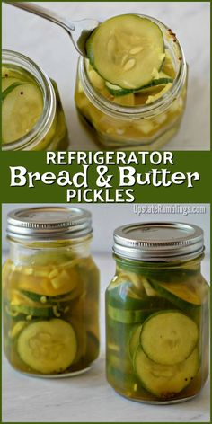 Make these quick and easy Refrigerator Bread and Butter Pickles with no canning equipment or fuss. These homemade pickles are made from garden fresh cucumbers, vinegar and spices for an easy side dish for your summer sandwiches. Spicy Pickles, Canning Pickles, Homemade Pickles, Freezer Pickles, Bread N Butter Pickle Recipe, Bread & Butter Pickles, Refrigerator Pickle Recipes, Canning Equipment, Pickling Cucumbers