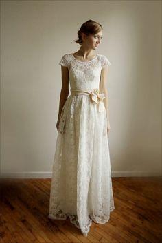 Ellie Long2 Stück Spitzen und Baumwolle Brautkleid von Leanimal