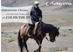 #turkeyevisa Visa fees for #Afghanistan £58.99/$86.99 includes evisa-turkey-tr.org's service charge of £28 + #government fees