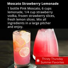 Here's a new twist for your summer lemonade stand–Moscato + Vodka!