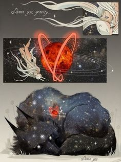Discover Chiara Bautista mysterious and poetical world of illustration. This talentous mexican artist has created two unforgettable characters : the Bunny Girl and her love, the Star Wolf. Geeks, Illustrations, Illustration Art, Chiara Bautista, Arte Horror, Art Moderne, Art Design, Art Inspo, Amazing Art